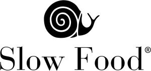 The typical base logo for the Slow Food movement.
